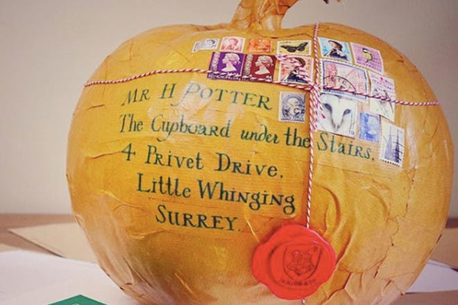 Hogwarts letter pumpkin