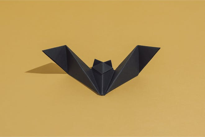 Black origami craft for Halloween