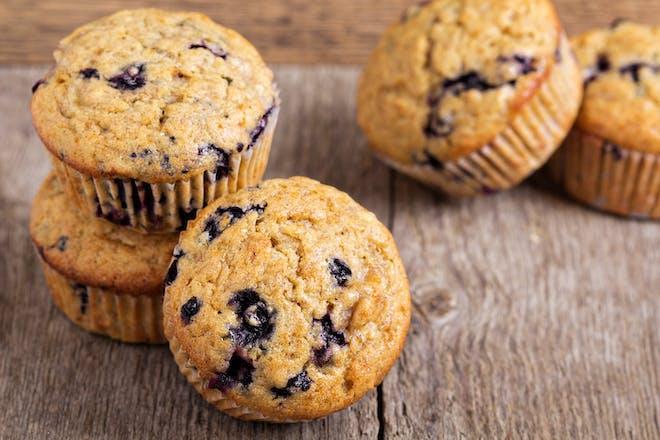 Lower-sugar blueberry muffins