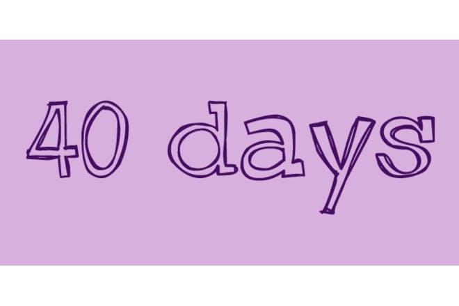 sleep days on purple background