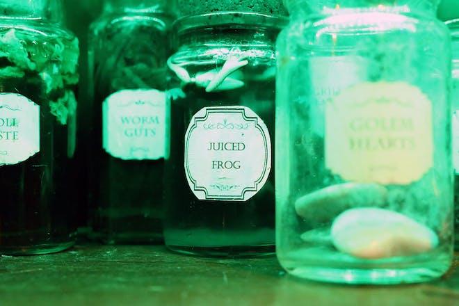 Jars of magical ingredients