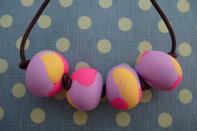 Fimo bead necklace