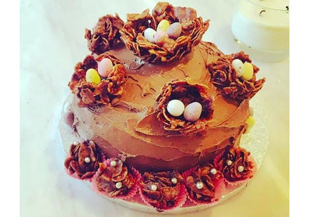 15. Cornflake flower cake