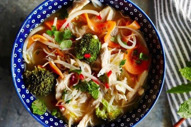 13. Chicken noodle bowls