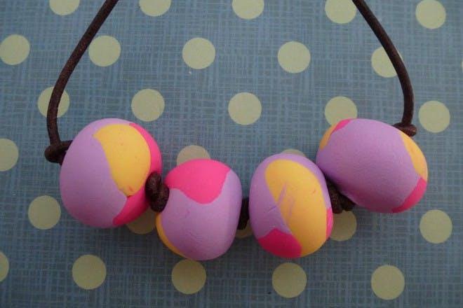 colourful fimo bead jewellery