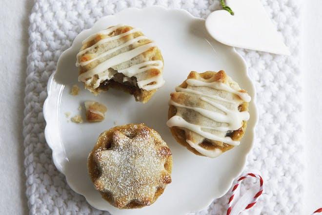 Mini mince pies with marzipan