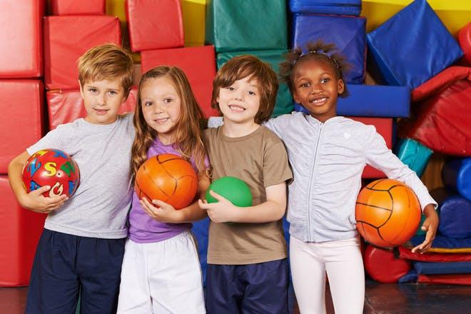 children playing ball games