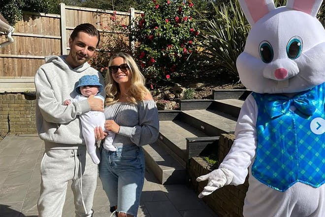 Sammy Kimmence and Dani Dyer with their son Santiago