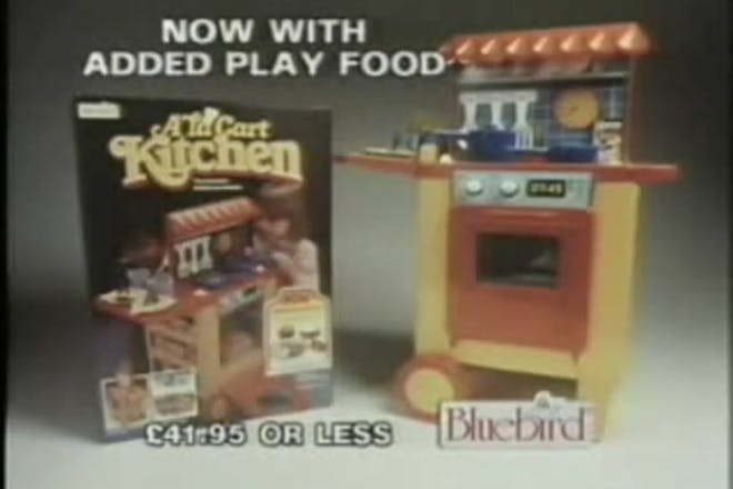 Toy kitchen from an old TV advert