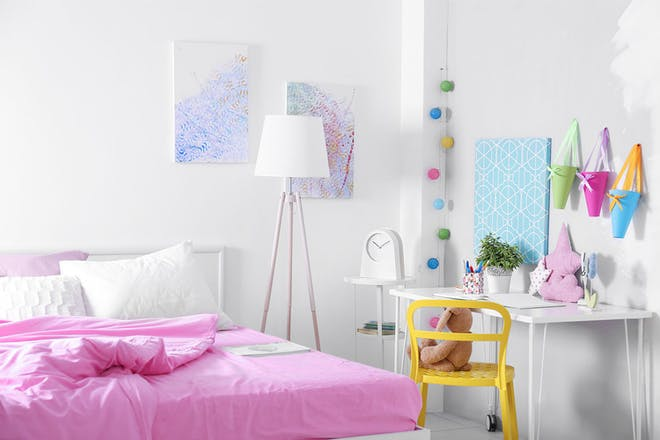 Colourful teenager's bedroom