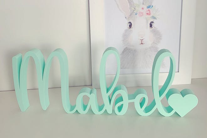 freestanding baby name sign