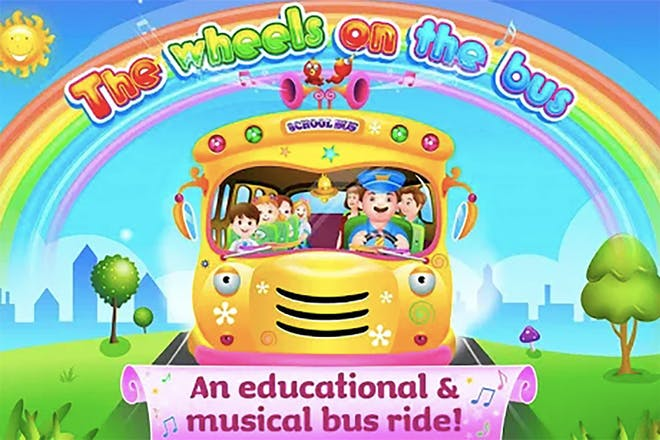 Screenshot of Wheels on the Bus educational app
