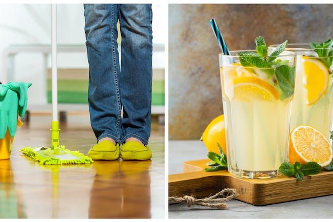 Lemon floor cleaner / lemonade