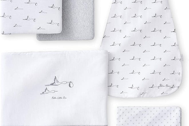 Silver Cross 5-Piece Stork Baby Bedding Set for Cot Bed and Crib