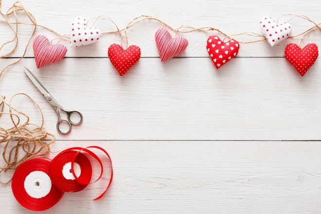 1. Heart bunting