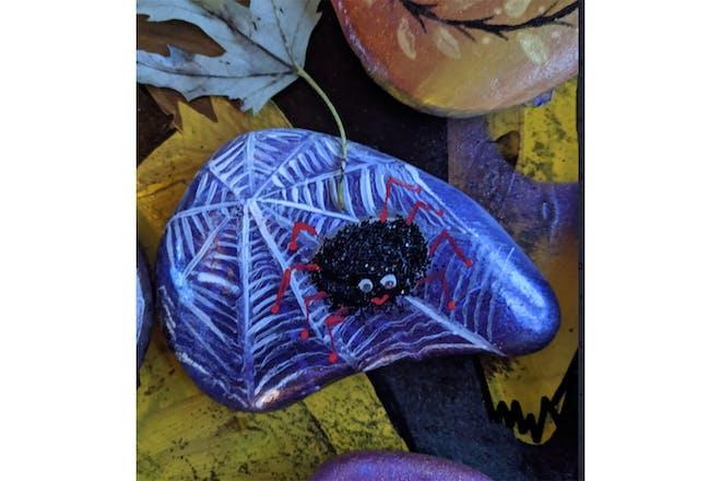 spider halloween rock