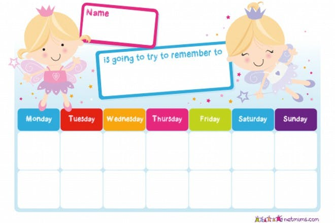 fairies try to remember 2 weeks reward chart