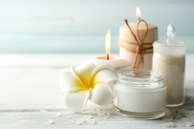 Candles and face cream