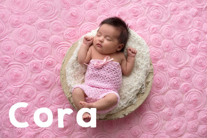 Baby sleeping in pink