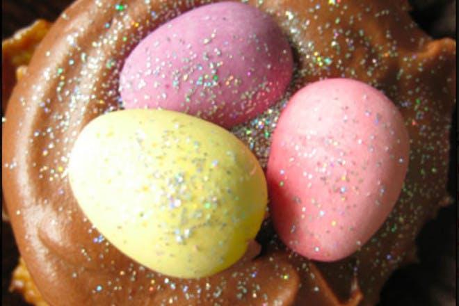 16. Sparkly egg cakes