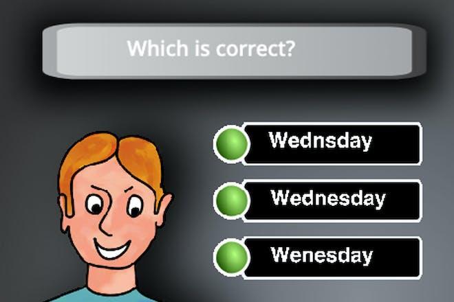 Misspelled Words Quiz screenshot