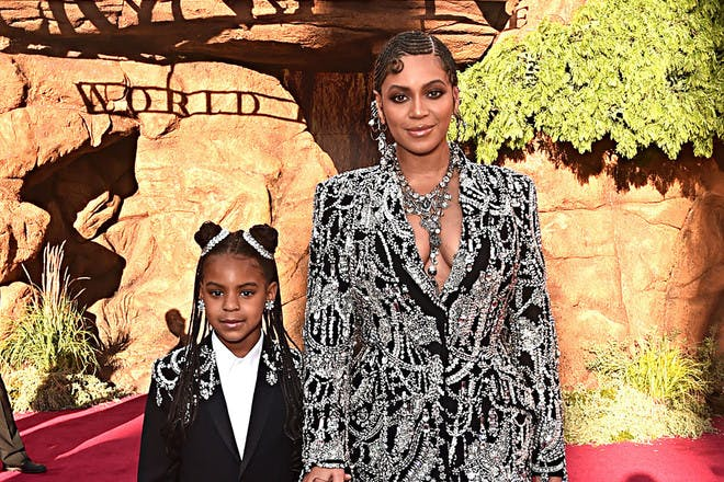 Blue Ivy and Beyonce at the Lion King premiere