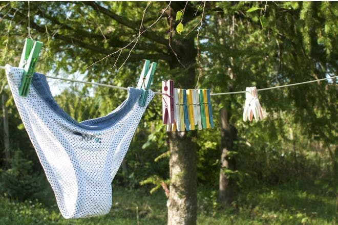 Knickers on washing line