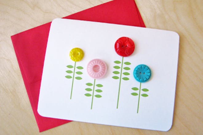 Mother's Day card with buttons