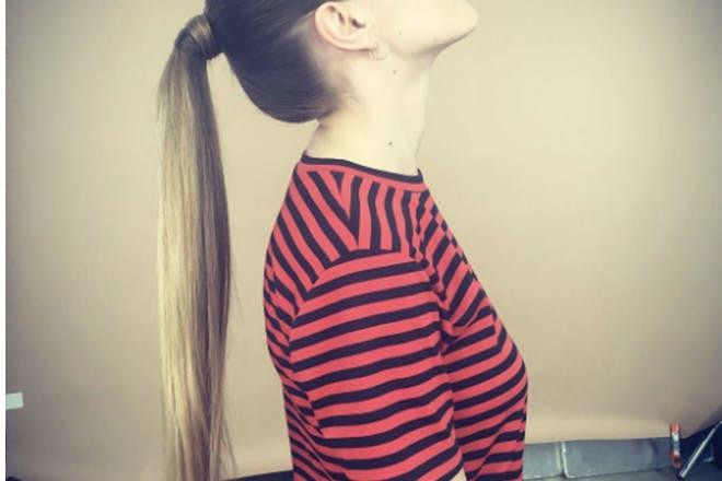 9. Wrap-around ponytail