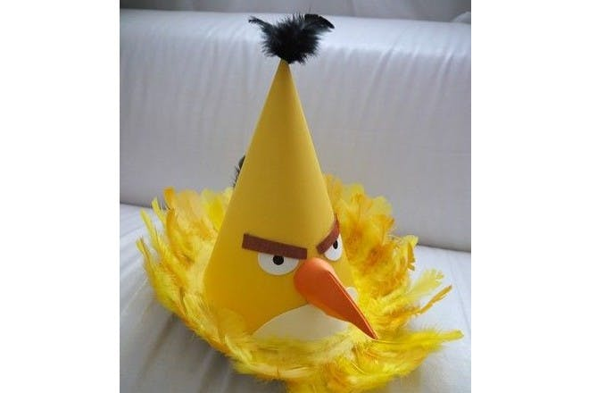 yellow angry birds easter bonnet