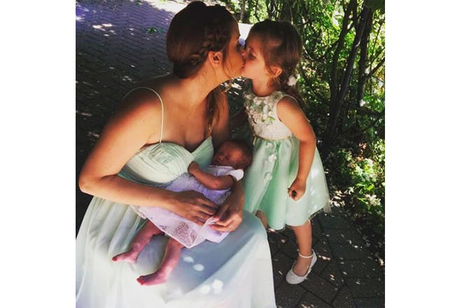 Jacqueline Jossa with her children