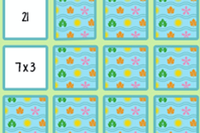 Times tables memory maths game
