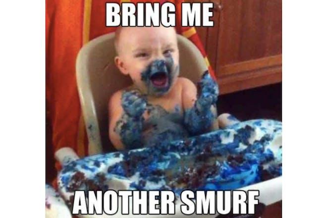 Smurf baby