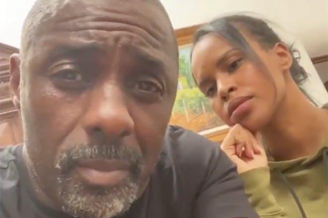 Idris Elba and Sabrina Dhowre coronavirus