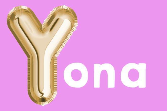 Yona 'y' name