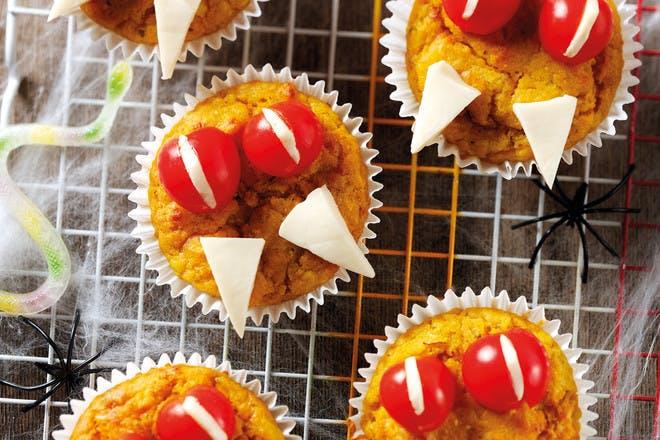 8. Vampire pumpkin muffins