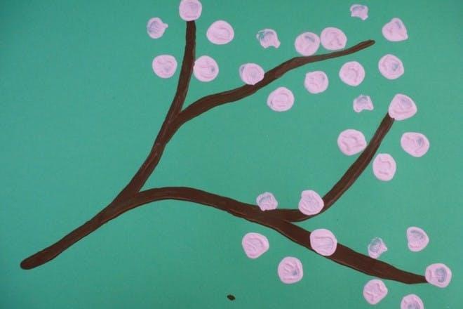 Finger print blossom