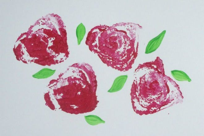 Flowers printed with celery
