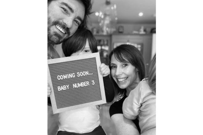 Alex Jones pregnant with third child