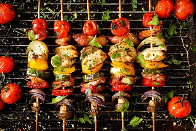 7. Spicy chicken kebabs