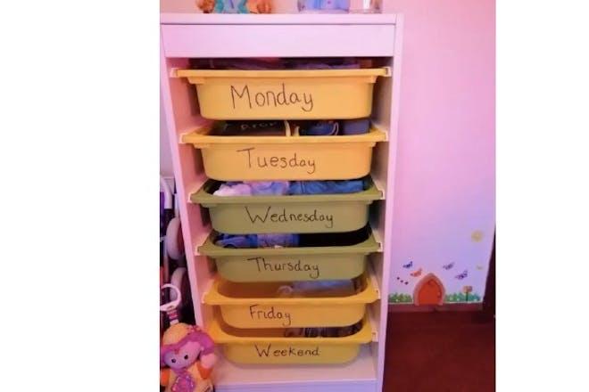School uniform drawers