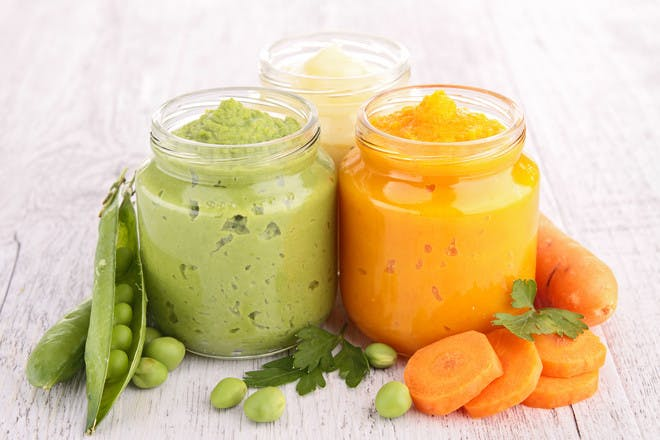Purees in jars
