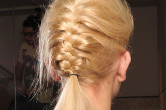 10. French braid ponytail