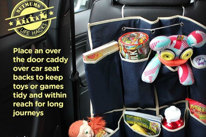 toys in a car tidy