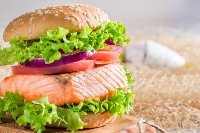 10. Salmon burger