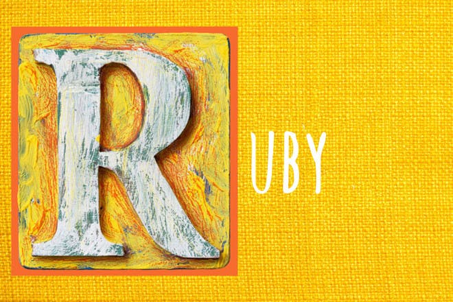 Baby name Ruby