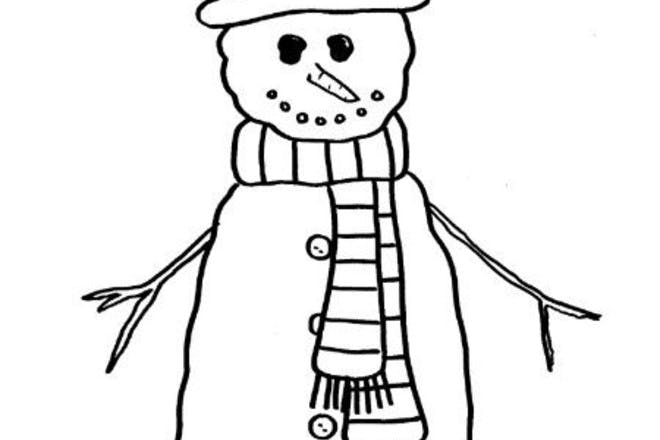 snowman colouring