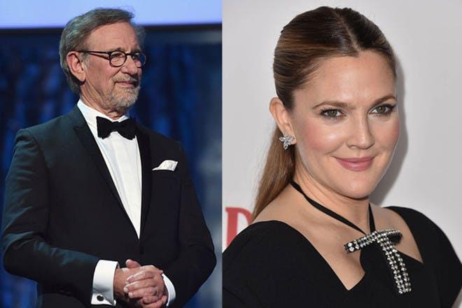 10. Steven Spielberg and Drew Barrymore