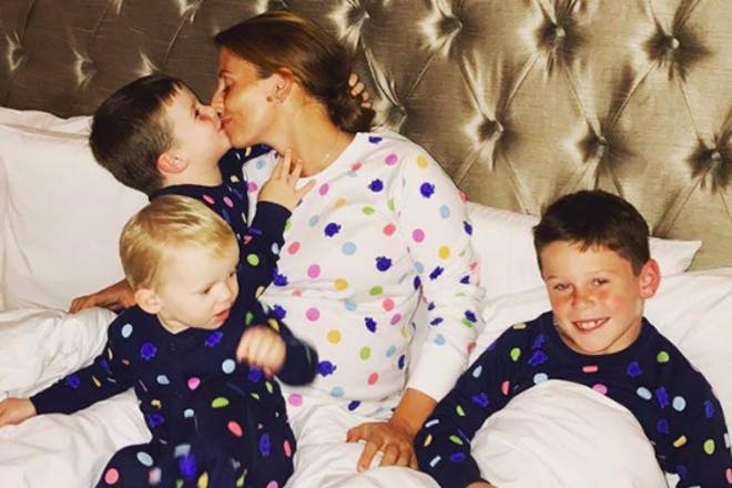 Coleen Rooney with kids