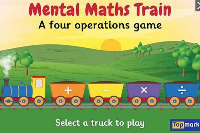 Mental maths train maths game